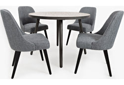 "RETRO  GREY WASH COMEDOR 5Pzs, 42""dia"