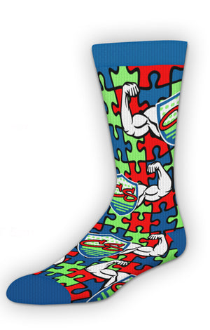 Puzzle piece Courage Socks