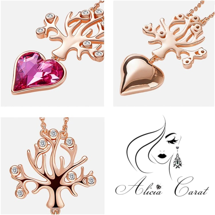 Alicia Carat Collier Arbre de Vie Or Rose
