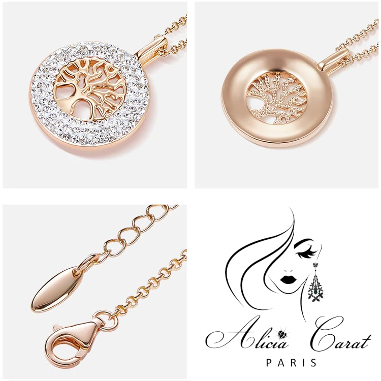 Collier Arbre de Vie Or et Strass Alicia Carat