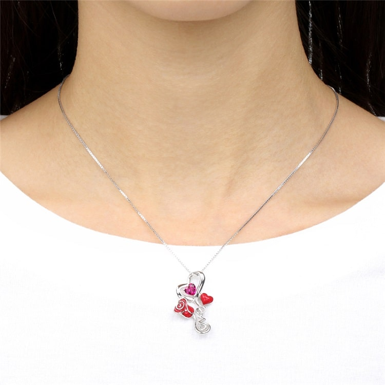 Sublime Collier Rose Eternelle