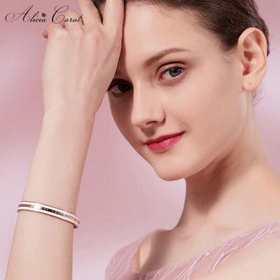 Alicia Carat Bracelet Or Rose Femme I Love You Forever