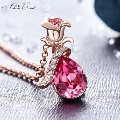 Alicia Carat Collier Rose Éternelle Or rose