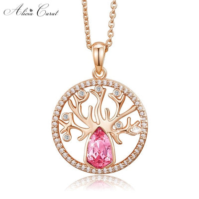 Collier Arbre de Vie Or et Strass