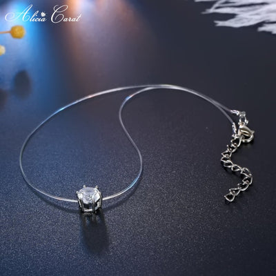 Collier Diamant Fil de Pêche Brillant