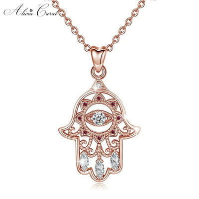 Collier Main de Fatma Or