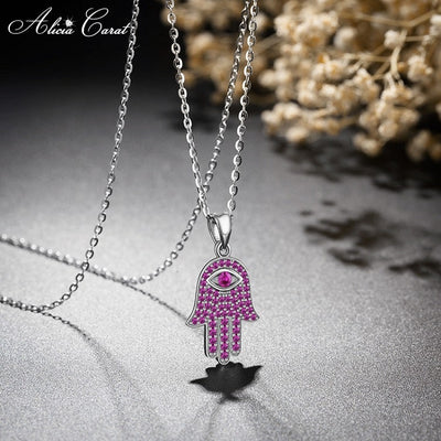 Collier Main de Fatma Rose Alicia Carat