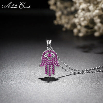 Collier Main de Fatma Rose Argent 925