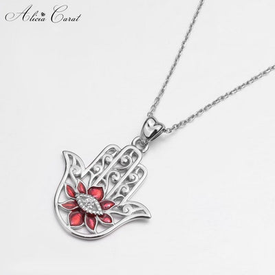 Collier Main de Fatma Rouge Alicia Carat