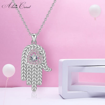 Collier Main de Fatma en Argent Rose