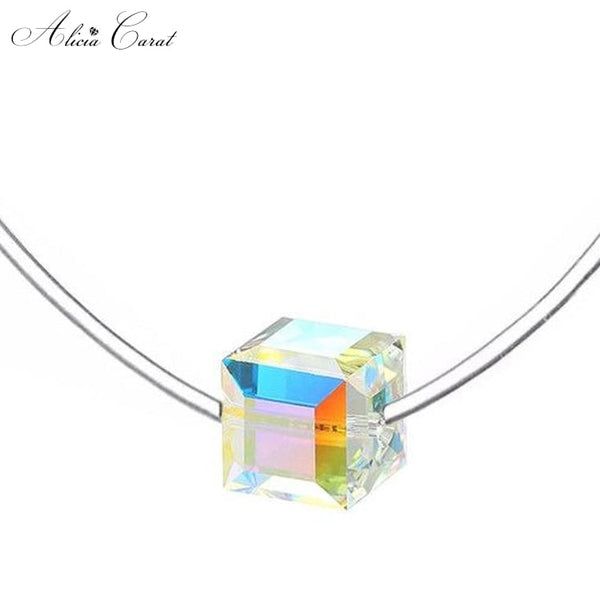 Collier Ras de Cou Transparent
