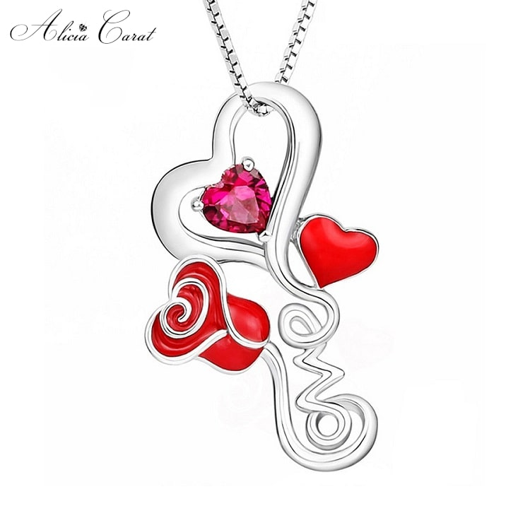 Collier Rose Éternelle Love