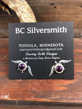 Load image into Gallery viewer, BC Silversmith Sterling Silver Mini Bezel Set Gemstone Earrings