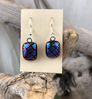 Dichroic Glass Earrings by Peggy Little