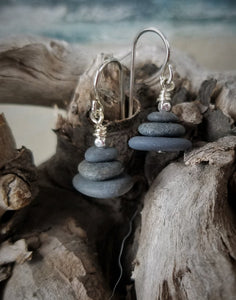 Three Basalts Cairn Earrings Collection by Jan Smith