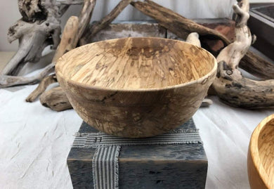 Hand Turned Birch Bowl 6.5 inches
