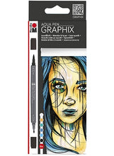 Load image into Gallery viewer, The Graphix Aqua Pens Collection by Marabu 5 Different Set Styles Available