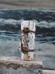 Birch Bark vases by Linda Quick