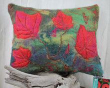 Load image into Gallery viewer, Red Maple Felted Pillow