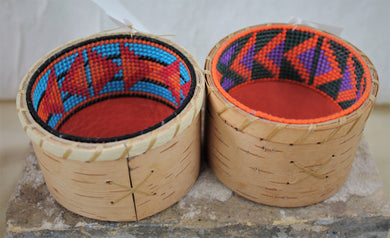 Colorful Birchbark vessels