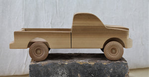 Wooden cars crafted by Greg