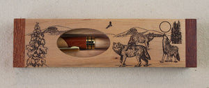 Wooden Engraved Box and Pen Set