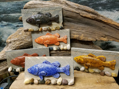 Pottery Relief Fish on board