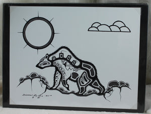 Prints by Darryl Big George from the Ojibwa/Sioux the Lac La Croix First Nation Tribe