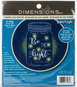 """Be The Light"" counted cross stitch kit"