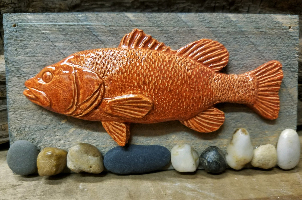 Pottery Relief Fish on board Collection by Peggy Little