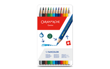Load image into Gallery viewer, Water-soluble color pencil 12 colors - Caran d'Ache