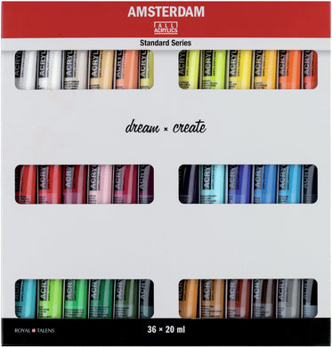 36 piece Acrylic Paint Set - Amsterdam All Acrylics Standard Series