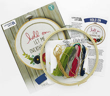 "Load image into Gallery viewer, ""hold on, LET ME OVER THINK THIS."" Embroidery kit"