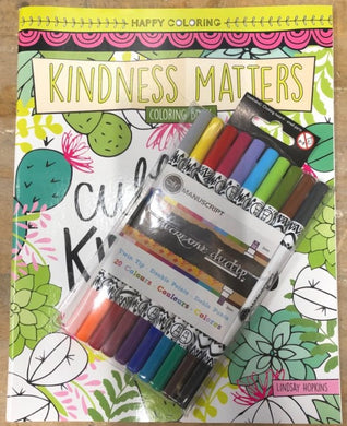 Cultivate Kindness Coloring Book with 10 Dual Tip Markers