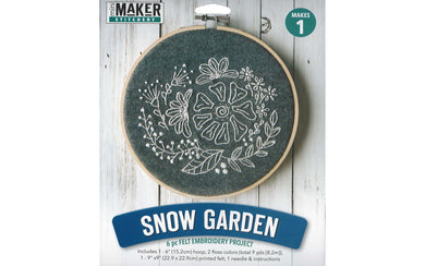 Snow Garden 6pc. Felt Embroidery Kit