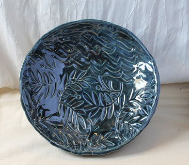 Textured Blue Bowl by Carol Miller