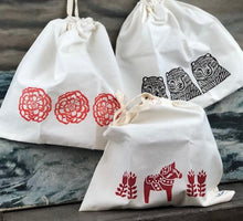 Load image into Gallery viewer, Hand Stamped Bread Bag