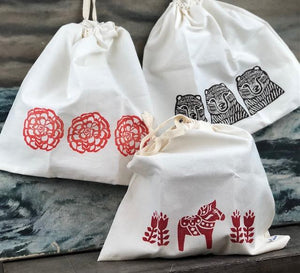 Hand Stamped Bread Bag