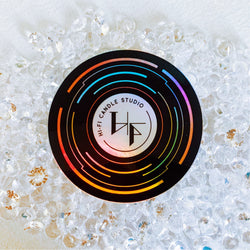 Hi-Fi Candle Studio Holographic Vinyl Sticker
