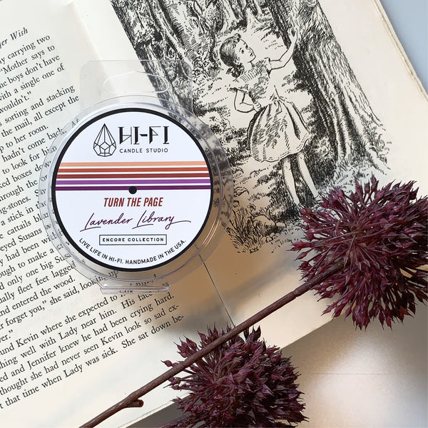 Turn The Page ± Lavender Library Wax Melt