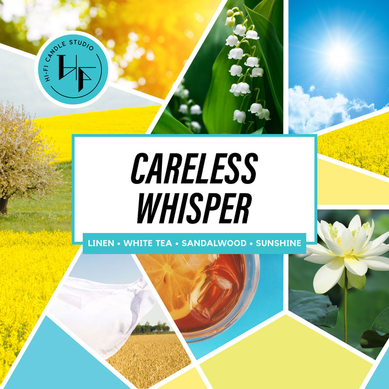 Careless Whisper ± Sunshine Linen-Hi-Fi Candle Studio