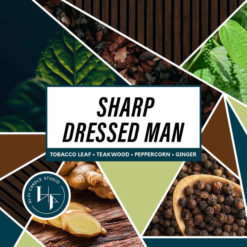 Sharp Dressed Man ± Tobacco & Teak-Hi-Fi Candle Studio