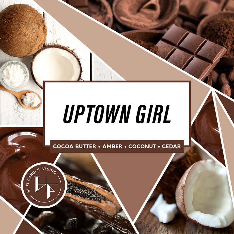 Uptown Girl ± Warm Cocoa Butter-Hi-Fi Candle Studio
