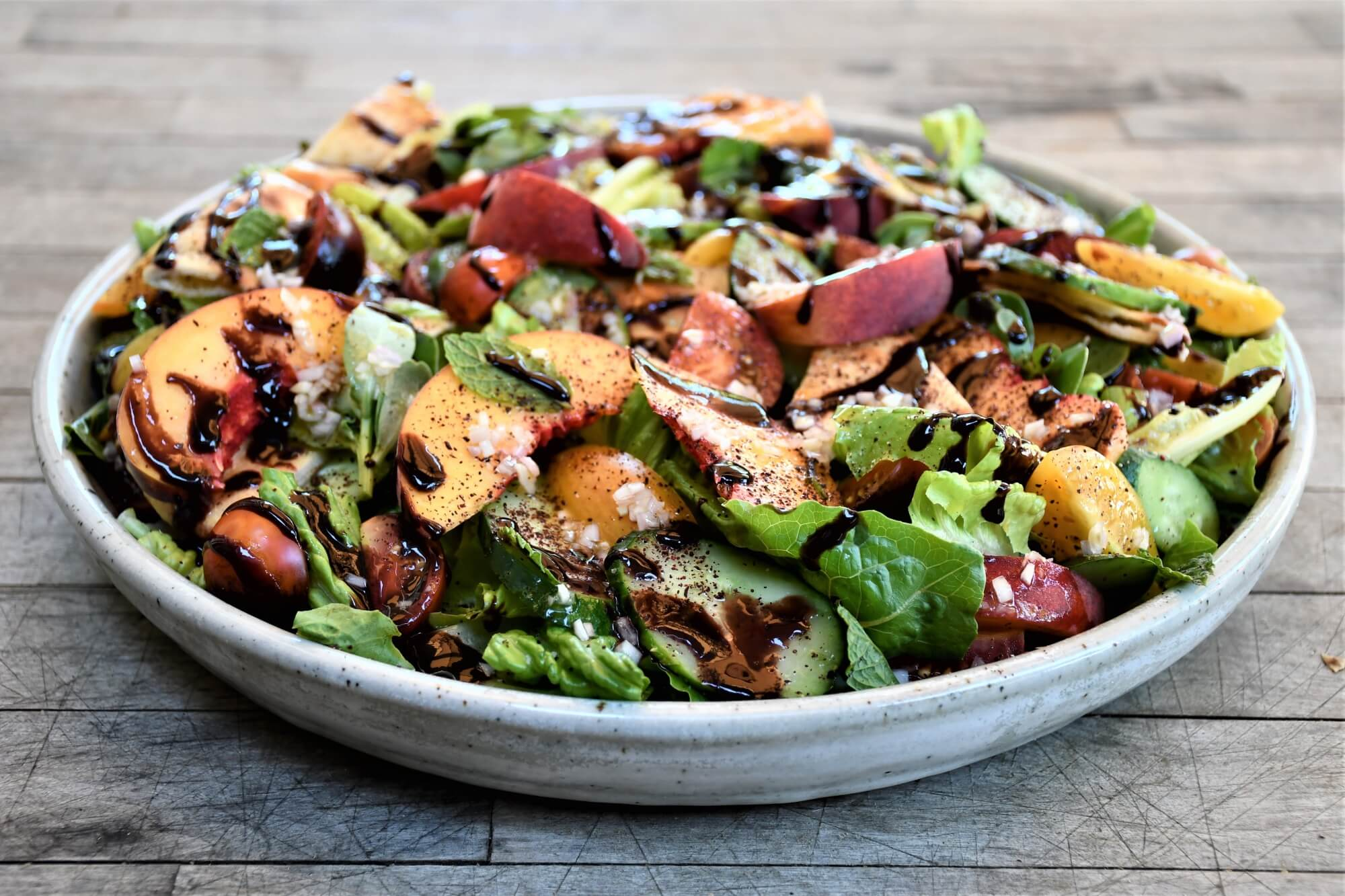 Fattoush With Peaches