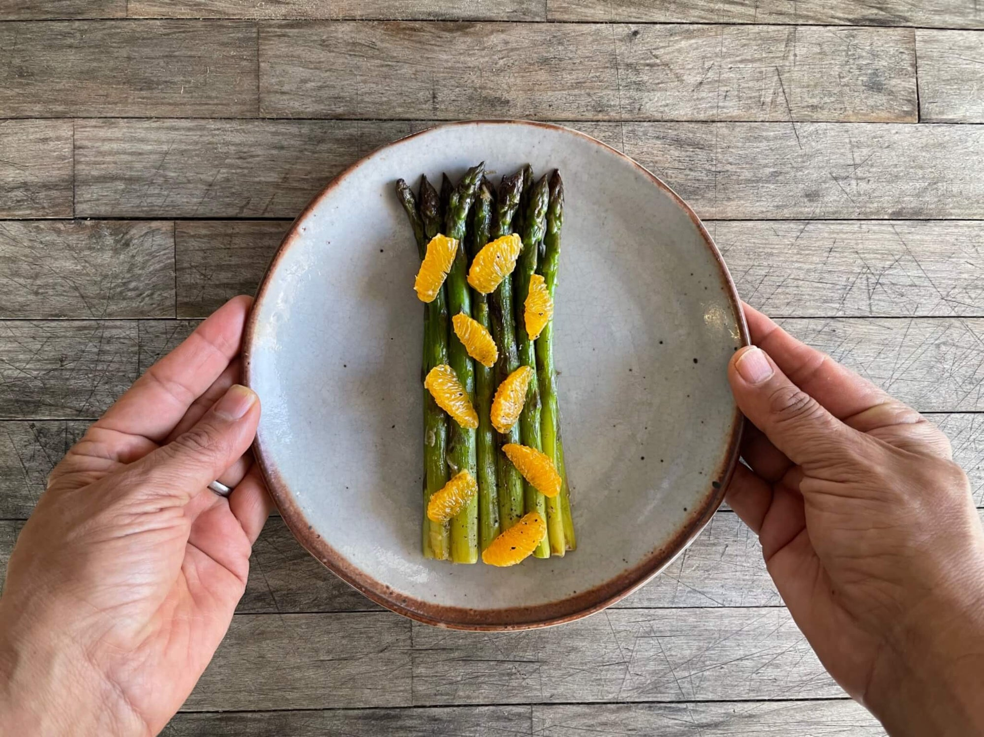 Pan Roasted Asparagus with Mandarins
