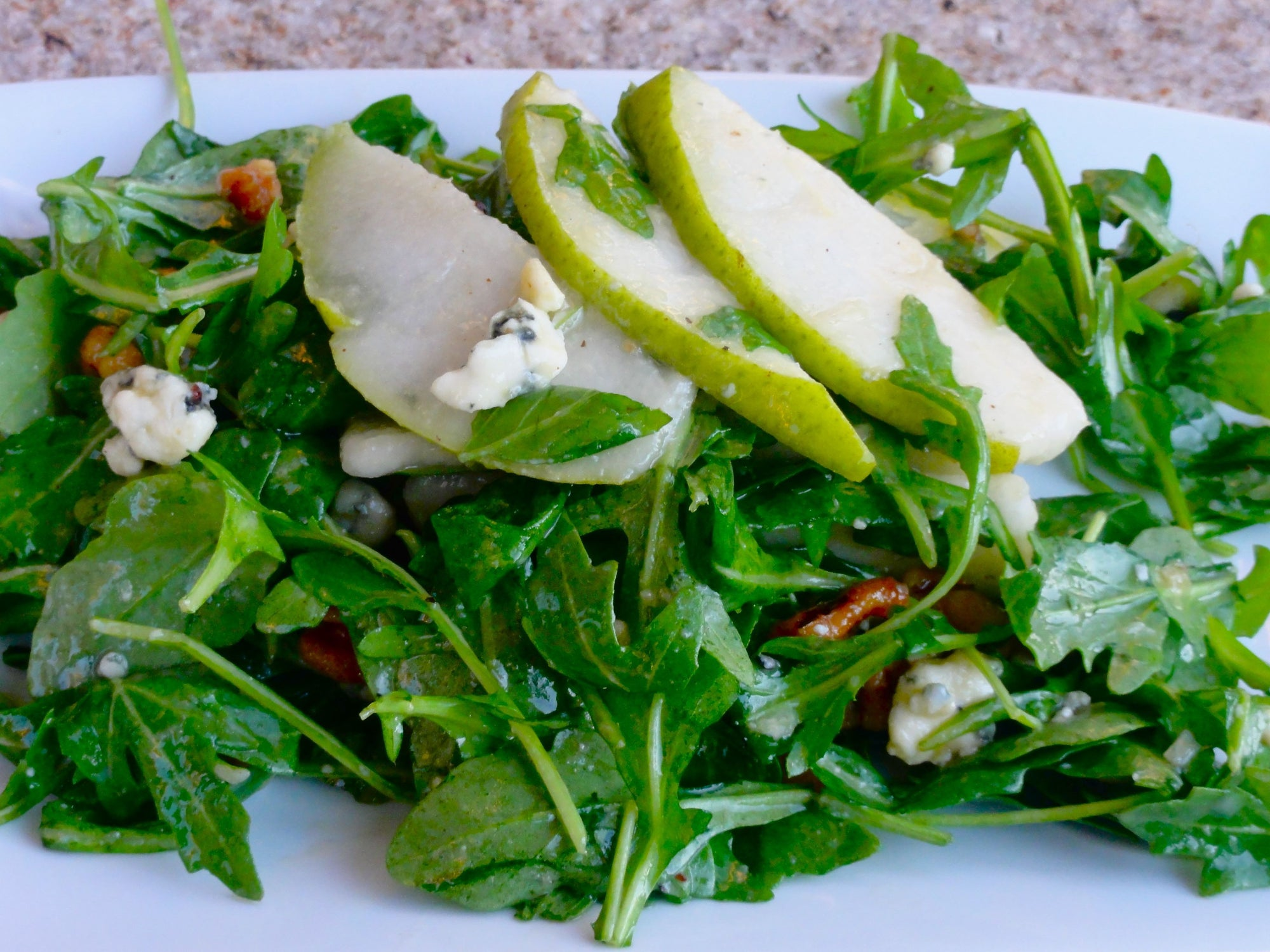 Warm Spinach and Pear Salad