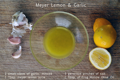 meyer lemon and garlic salad dressing recipe
