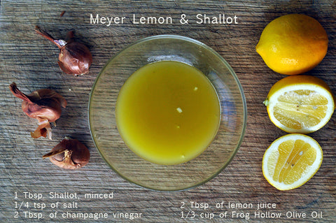 Meyer Lemon and Shallot Salad Dressing Recipe