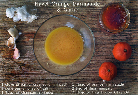 navel orange marmalade and garlic salad dressing recipe
