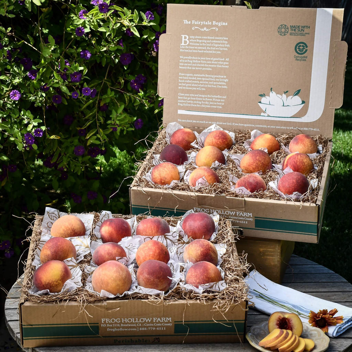 Organic Autumn Flame Peaches
